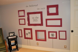 gallery grouping - red frames