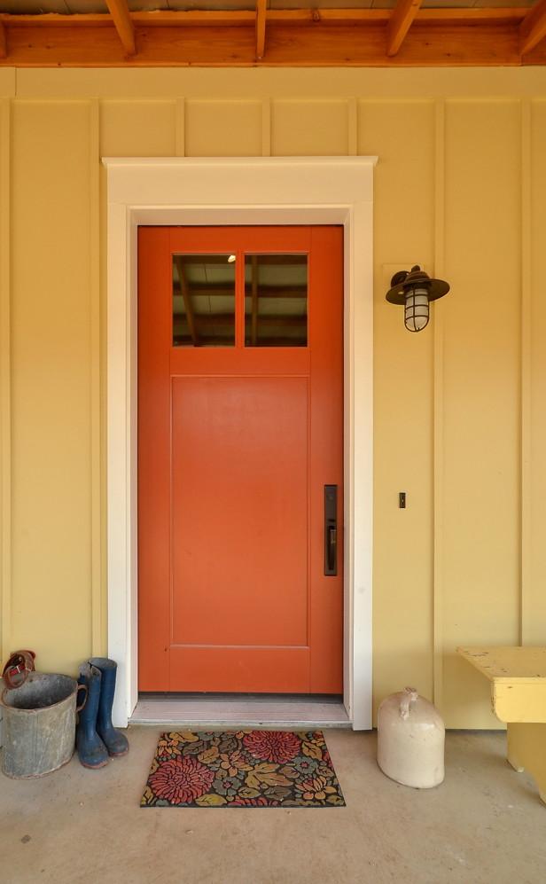 door - orange front door