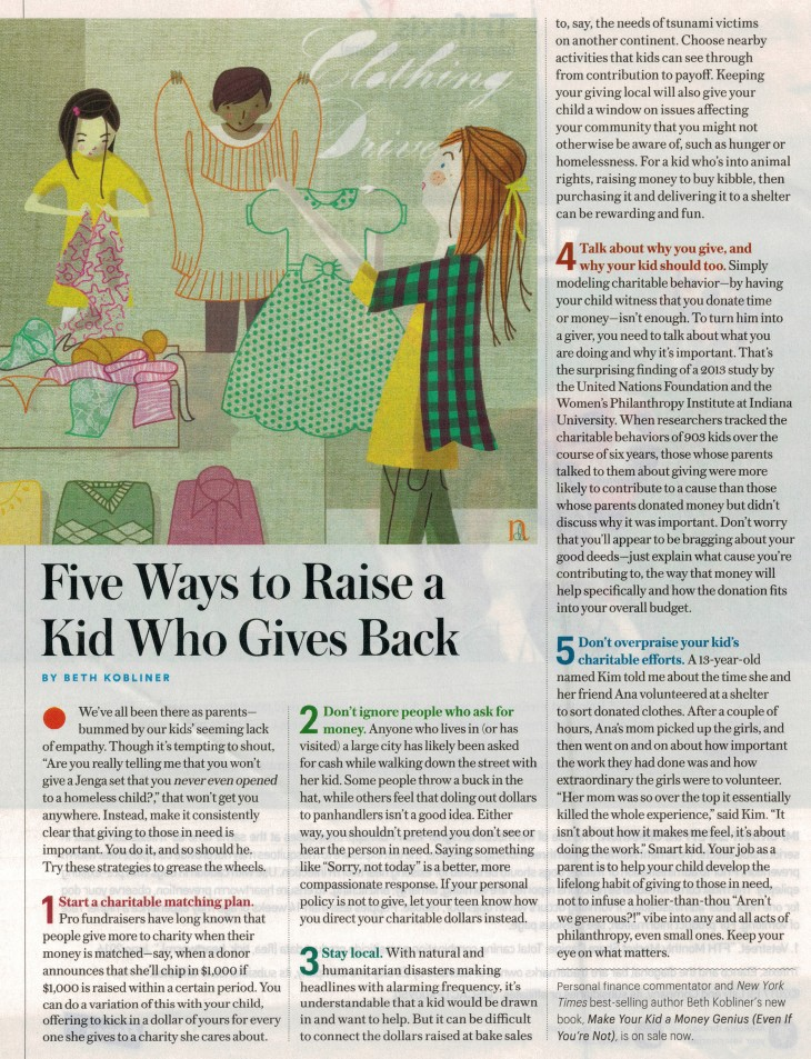 5 ways to raise kids that give back