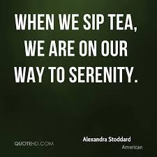 AS - when we sip tea...
